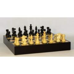 Chess Set - 3.5in French Black - Black and Maple