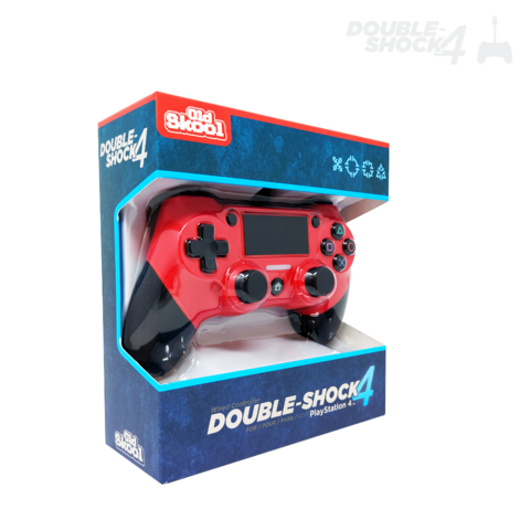 Old Skool Double-Shock 4 - Wired PS4 Controller - Red