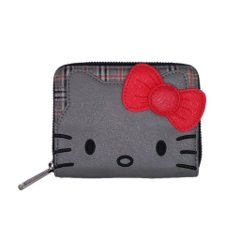 Loungefly x Hello Kitty Classic Fashion Plaid Wallet with Bow-Tie