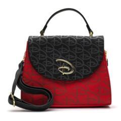 Loungefly Disney RED/BLK Logo Debossed Crossbody Bag