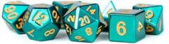 16mm Metal Poly Dice Set - Turquoise