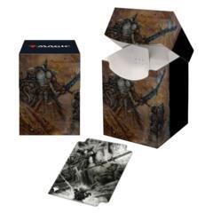 100+ Deck Box V1 featuring Dakkon, Shadow Slayer for Magic: The Gathering