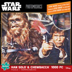 Han Solo & Chewbacca - Star Wars Photomosaics (1000 Piece Puzzle)