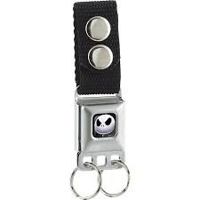 Seatbelt Keychain: Nightmare Before Christmas - Jack  - Black