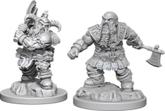 Dungeons & Dragons Nolzur`s Marvelous Unpainted Miniatures - Dwarf Barbarian Male