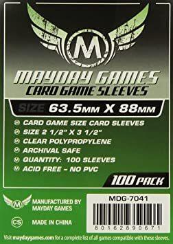 Mayday Sleeves: 63.5mm x 3 1/2 Card Game Card Sleeves (100)