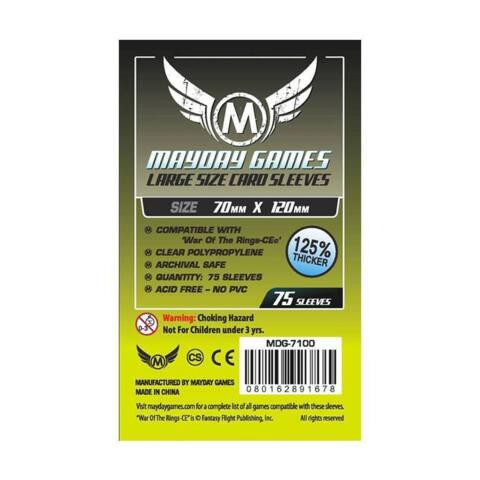 Mayday: Large Card Sleeves : 70mm x 120mm