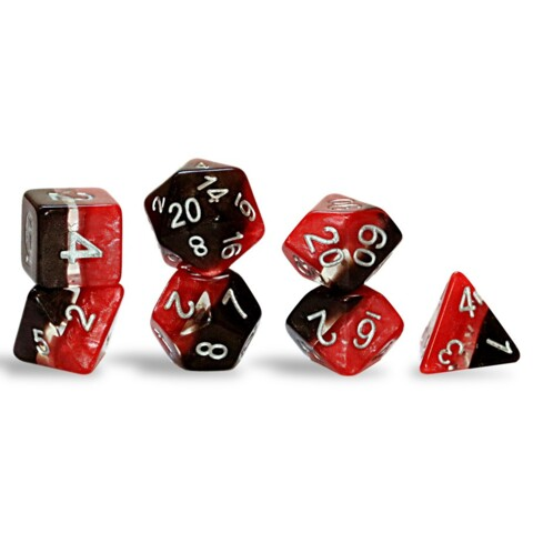Magma Dice - Smoldering Red & Igneous black