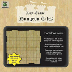Dungeon Tiles - Dry Erase - 36 10 in w/ 1in Square Grid - Earth Tone