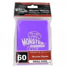 Monster Logo Card Sleeves Purple Small