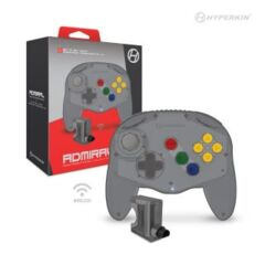 (Hyperkin) Admiral Wireless N64 Controller (Fighter Style) - Smoke