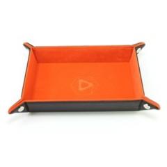 Dice Tray - Folding Rectangle - Orange