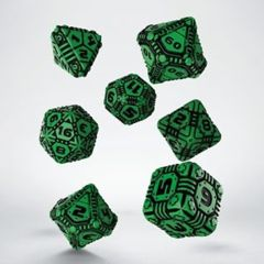 Tech Dice - Black and Green Set