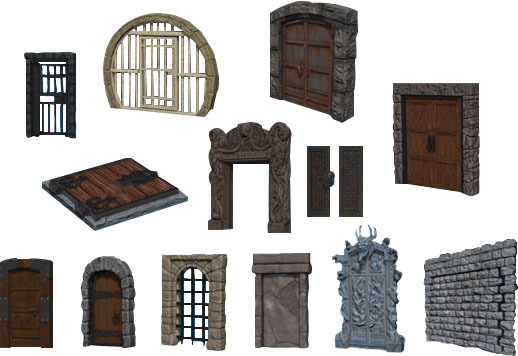 Warlock Tiles - Doors and Archways