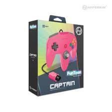 Hyperkin Captain N64 Controller - Funt Toon Collector's Edition Pink & Hot Pink