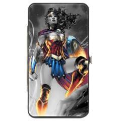 Hinged Wallet - Wonder Woman - Grey Pose