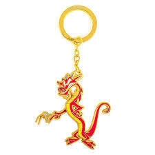 Loungefly x Disney Mushu and Cricket Movable Arm Enamel Keychain