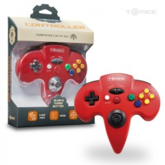 Tomee Red N64 Controller - Wired