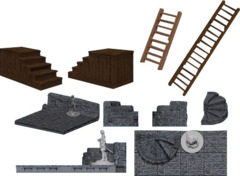Warlock Tiles - Stairs and Ladders