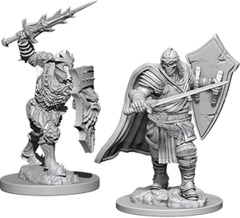 Dungeons & Dragons Nolzur`s Marvelous Unpainted Miniatures - Death Knight & Helmed Horror