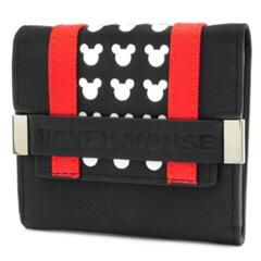 Loungefly Mickey BLK/RED Trifold Wallet