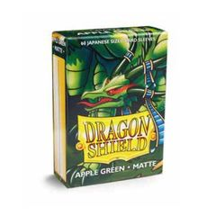 Matte Apple Green - Mini Boxed Sleeves (Dragon Shield) - 60 ct