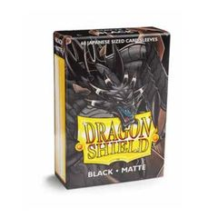 Matte Black - Mini Boxed Sleeves (Dragon Shield) - 60 ct
