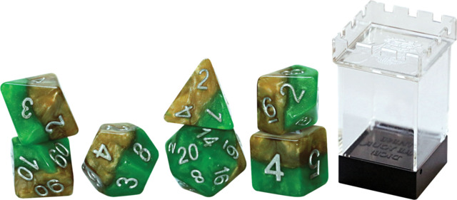 Gate Keeper Dice - Halfsies - Robin Hood - 7 Dice Set
