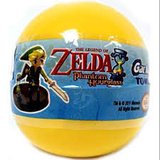 Legend of Zelda Phantom Hourglass Gashapon 2 Inch Figure Blind Pack Yellow Bubble Pack