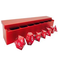 Precision CNC Aluminum Dice Set with Dice Vault: Devil Red