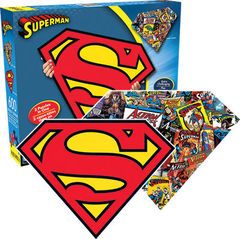 DC Comics: Superman - 2 Sided Die Cut 600 Piece Puzzle