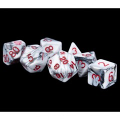 7 Count 16mm - Poly Marble with Red Numbers