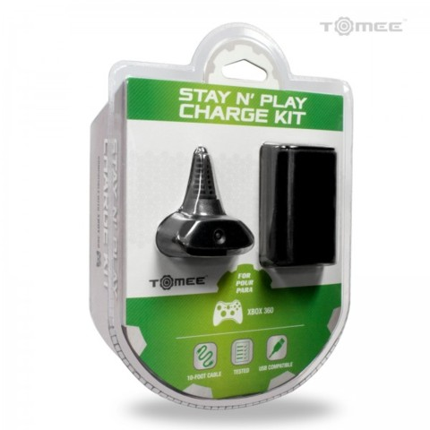Hyperkin Stay N Play Kit for Xbox 360 - Black