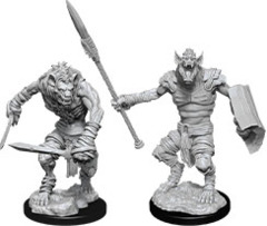 D&D Nolzur's Marvelous Miniatures - Gnoll & Gnoll Flesh Gnawer