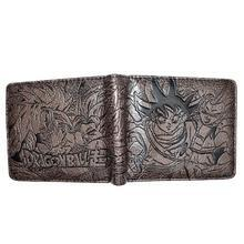 Bi Fold Wallet - Dragon Ball - Goku, Gogeta - Dark Brown