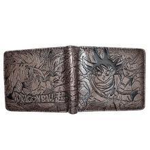 Bi Fold Wallet - Dragon Ball - Goku, Gogeta - Dark Brown