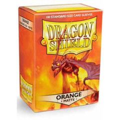 Matte Orange - Standard Boxed Sleeves (Dragon Shield) - 100 ct