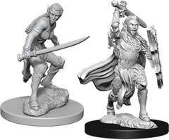 Dungeons & Dragons Nolzur`s Marvelous Unpainted Miniatures - Elf Fighter Female