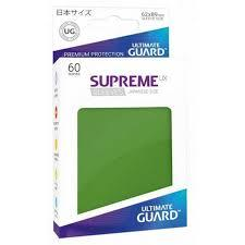 Ultimate Guard Supreme UX Sleeves Japanese Size Green Matte 60ct