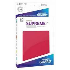 Ultimate Guard-Supreme UX Sleeves Mini Matte Red 60ct