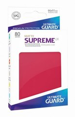 Ultimate Guard Card Sleeves: Supreme UX ‑ Matte Red (80)