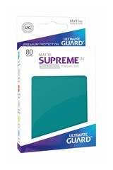 Ultimate Guard Card Sleeves: Supreme UX ‑ Matte Petrol Blue (80)