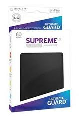 Ultimate Guard Supreme UX Sleeves Japanese Size Black 60ct