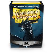 Matte Jet - Standard Boxed Sleeves (Dragon Shield) - 100 ct