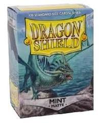 Matte Mint - Standard Boxed Sleeves (Dragon Shield) - 100 ct