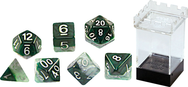 Gate Keeper Dice - Halfsies - Adamantine - 7 Dice Set