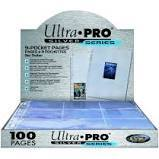 Clear - 9 Pocket Pages - Silver Series - Ultra Pro Top Load