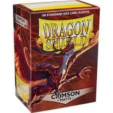Matte Crimson - Standard Boxed Sleeves (Dragon Shield) - 100ct