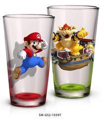 Super Mario: 2 Pack Glass Set