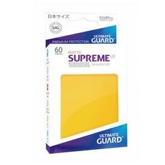 Ultimate Guard Supreme UX Sleeves Japanese Size Matte Yellow 60ct